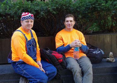 Travailleurs près du Rockfeller Center