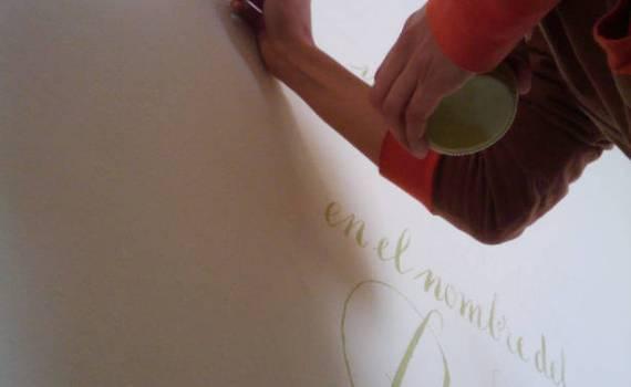 Caligrafia en pared.