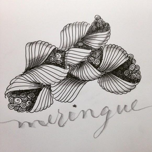 Meringue zentangle caligrafia