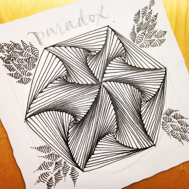Paradox zentangle caligrafia