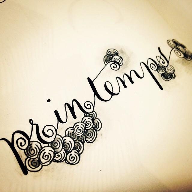 Printemps zentangle caligrafia