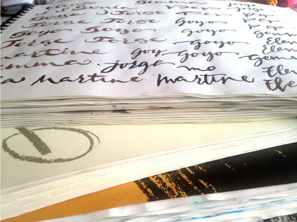 Desde cero: papel básico para practicar caligrafía