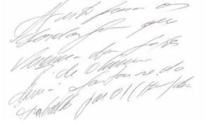 Letra ilegible