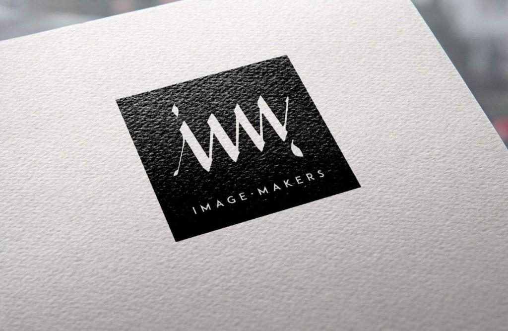 Image Maker logo papeleria en negro