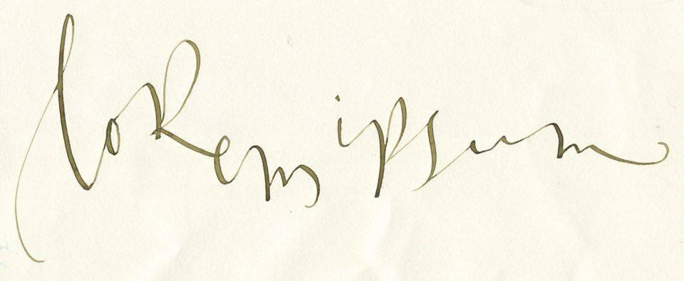 Caligrafía de Lorem Ipsum