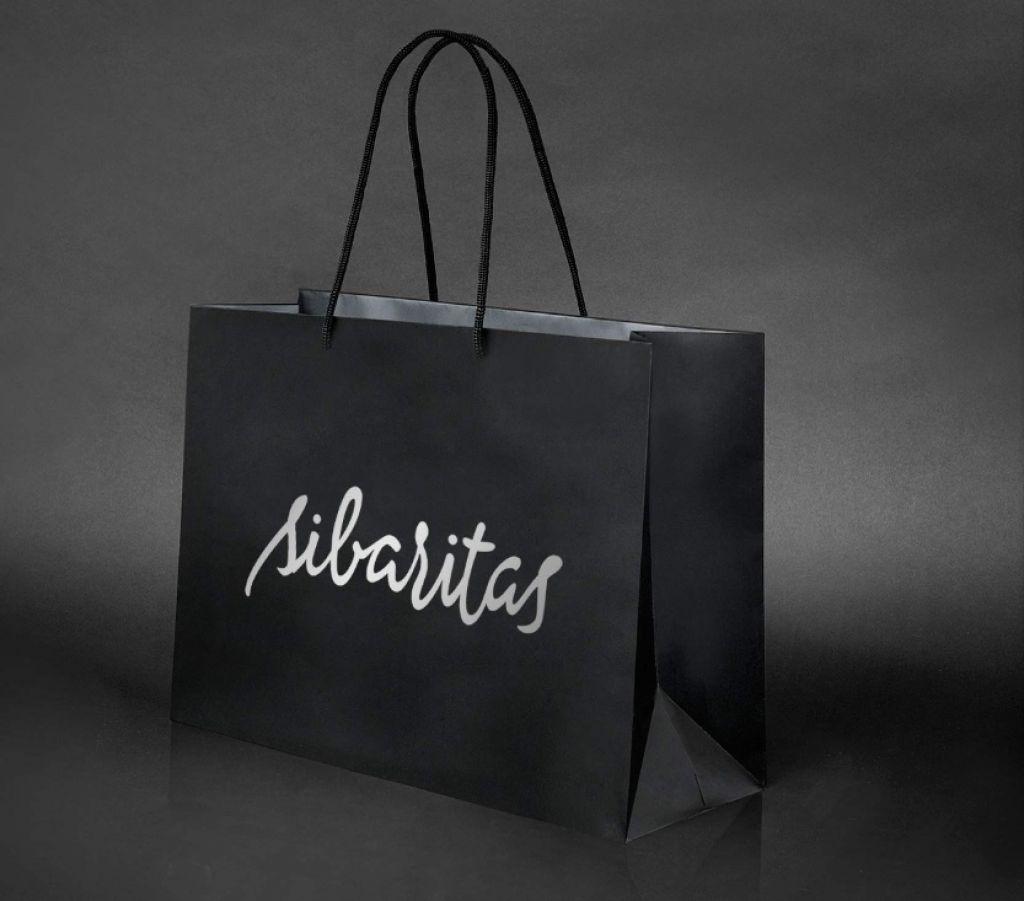 Sibaritas marca en bolsa negra