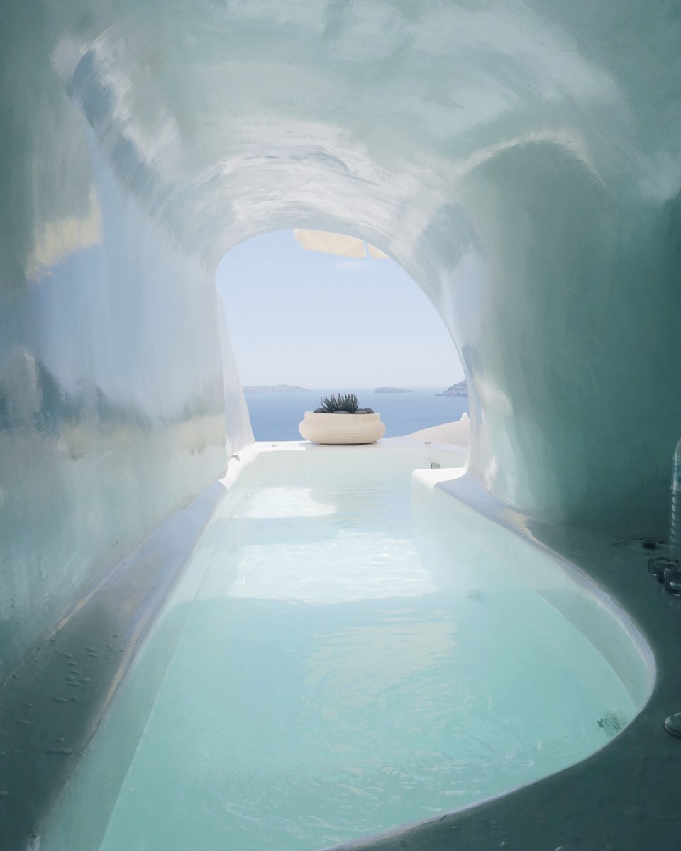 Stay in a Lava Cave with Private Cave Pool in Oia