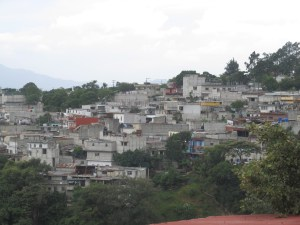 The outskirts of Guatemala City