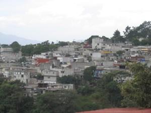 The outskirts of Guatemala City