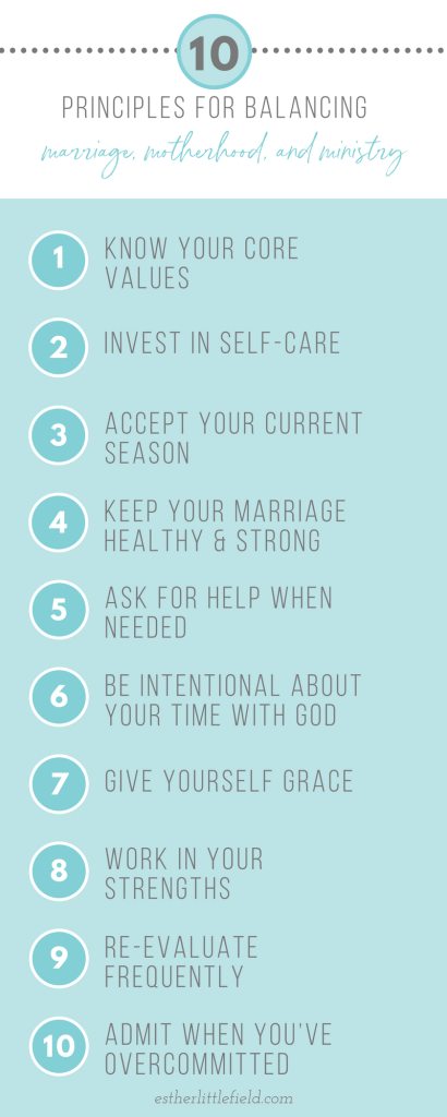 10 Principles for Balancing Marriage, Motherhood & Ministry