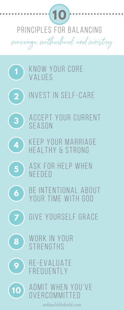 10 Principles for Balancing Marriage, Motherhood & Ministry