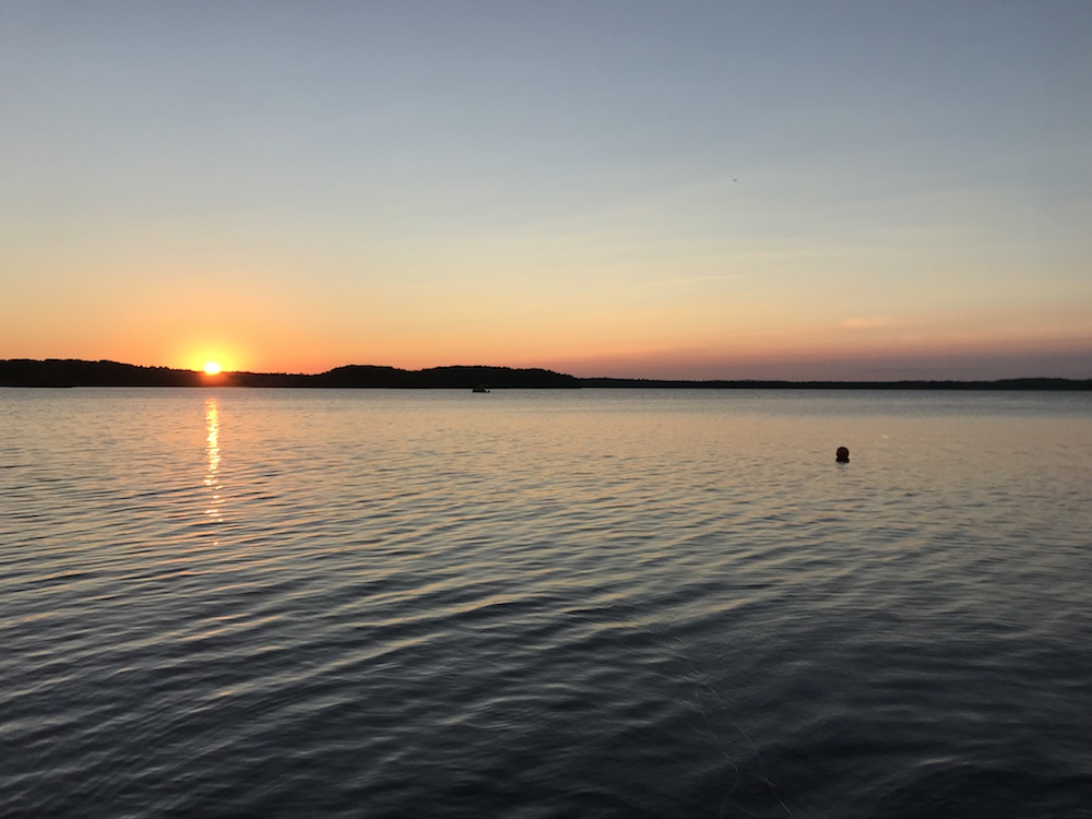 Sunset on a lake in Maine | 5 Life Lessons I've Learned in 38 Years