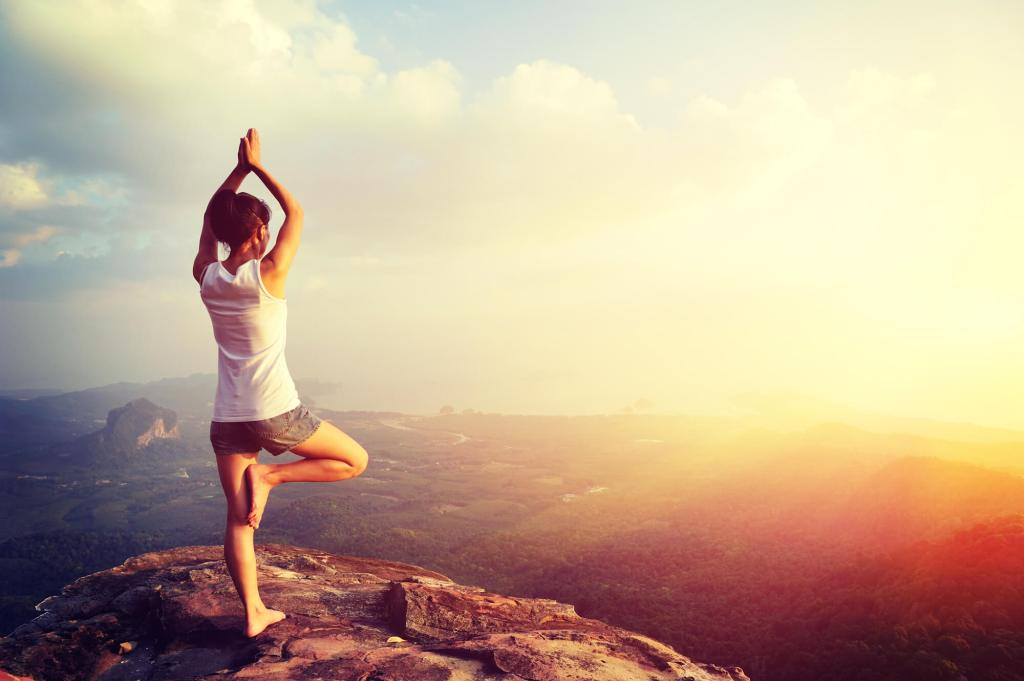 The Problem of Legalism in Christianity - Woman doing yoga on rock