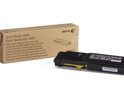 high capacity toner yellow, 6000p for Phaser 6600, WorkCentre 6605