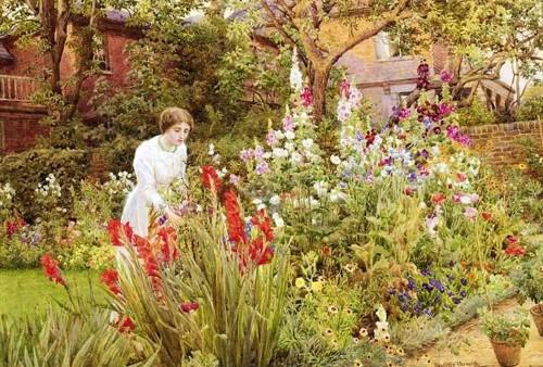 Сад цветущий