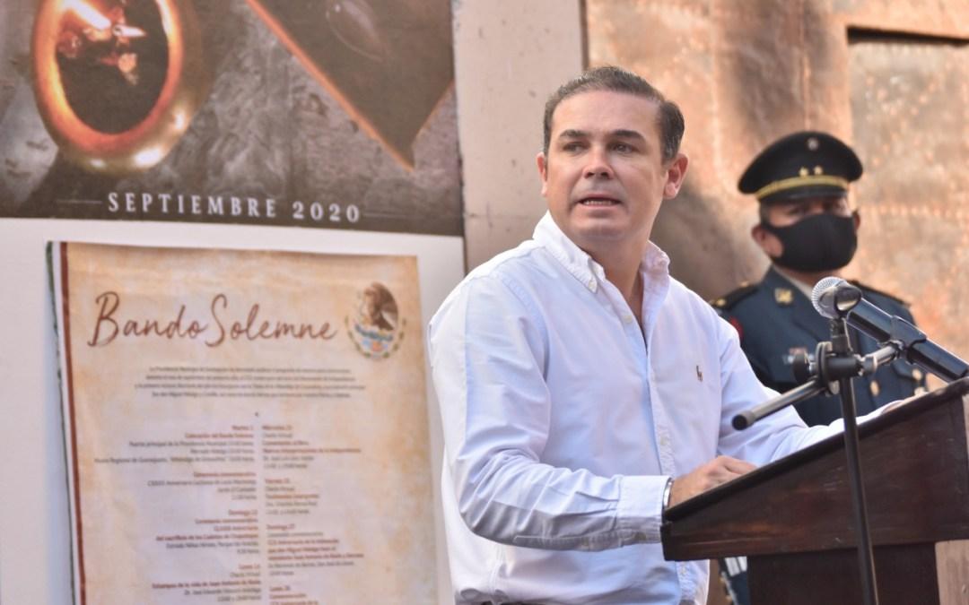 Inician Fiestas Patrias en Guanajuato Capital