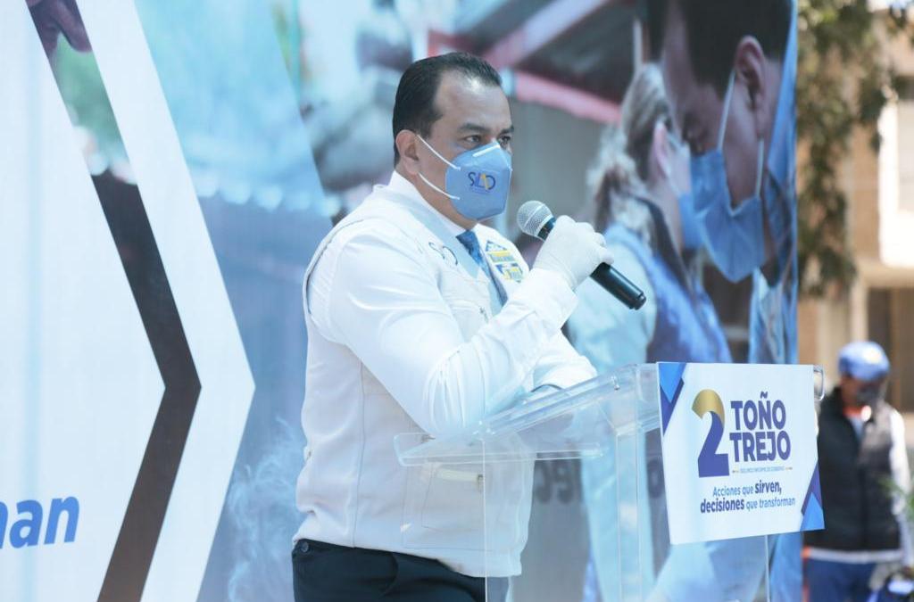 Presenta Trejo acciones que sirven en Sopeña; exige apoyo de la Federación