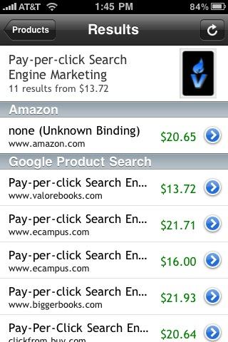 책제목이 정확히 검색되면 아마존가격과 구글프로덕트서치결과가 나온다