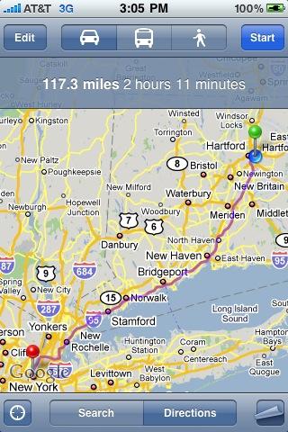 뉴욕까지 얼마남았는지 확인