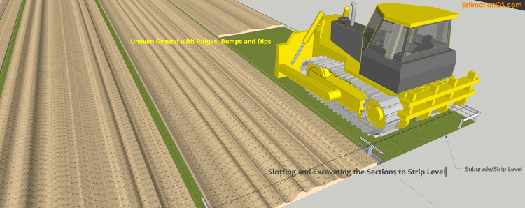 Drawing Fig.1 - Slotting and Excavating Ground Sections to Strip Level