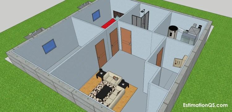 Walkout Basement Plan View (3b) CUT