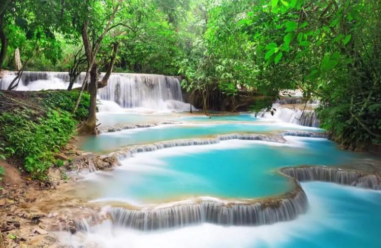 Kuang Si Falls, Luang Prabang Waterfalls Laos