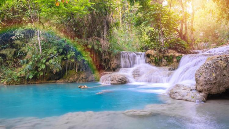 Luang Prabang in Laos - Waterfall - Ancient City