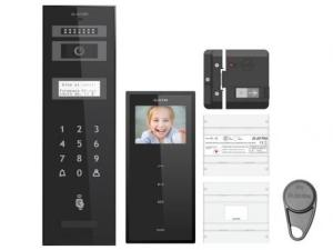 Kit videointerfon Electra pentru bloc - 10 apartamente