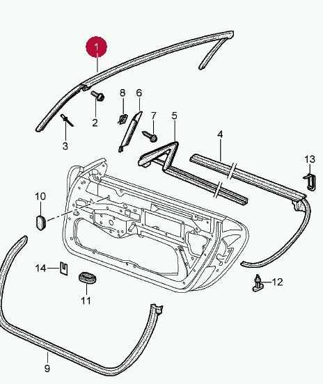 Porsche Cayenne 955 & 957 Radiator Panel Bracket 2003 to