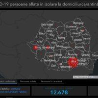 HARTA INTERACTIVĂ a cazurilor de coronavirus din România: Situația la minut din județe. Persoanele infectate, în carantină și monitorizate