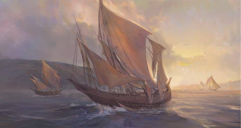 A teaser for a new LoL champion showing a Bilgewater pirate ship on the sea