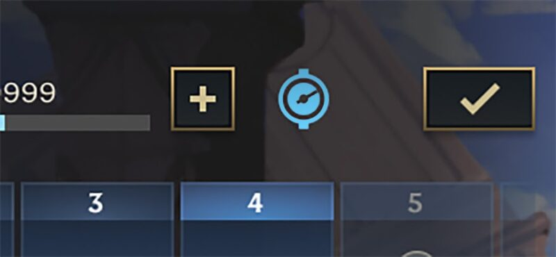 A screenshot from LoL Wild Rift showing a selection screen and a small blue symbol indicating their Wild Pass boost.
