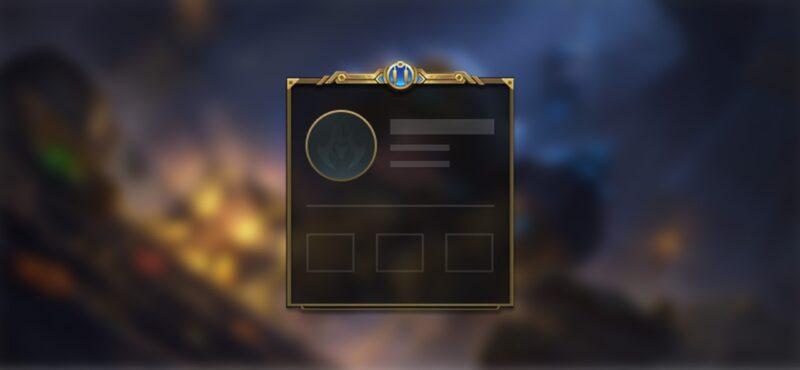 A blank profile badge screen from LoL Wild Rift Season 3.