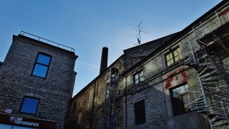 Zelluloosi kvartal Tallinn Estonia smokestack back