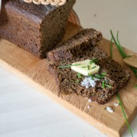 Estonian Black Bread. Leib