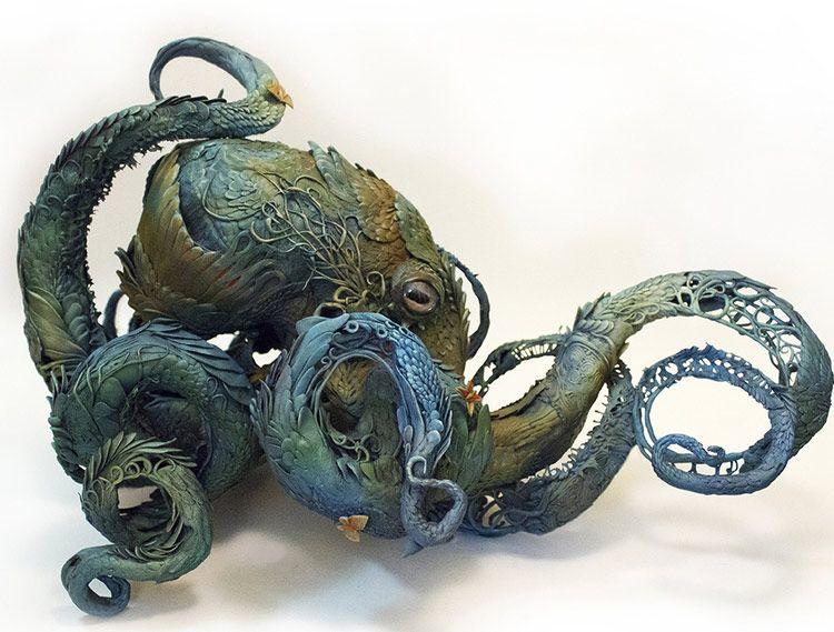 Las esculturas de animales surrealistas de Ellen Jewett