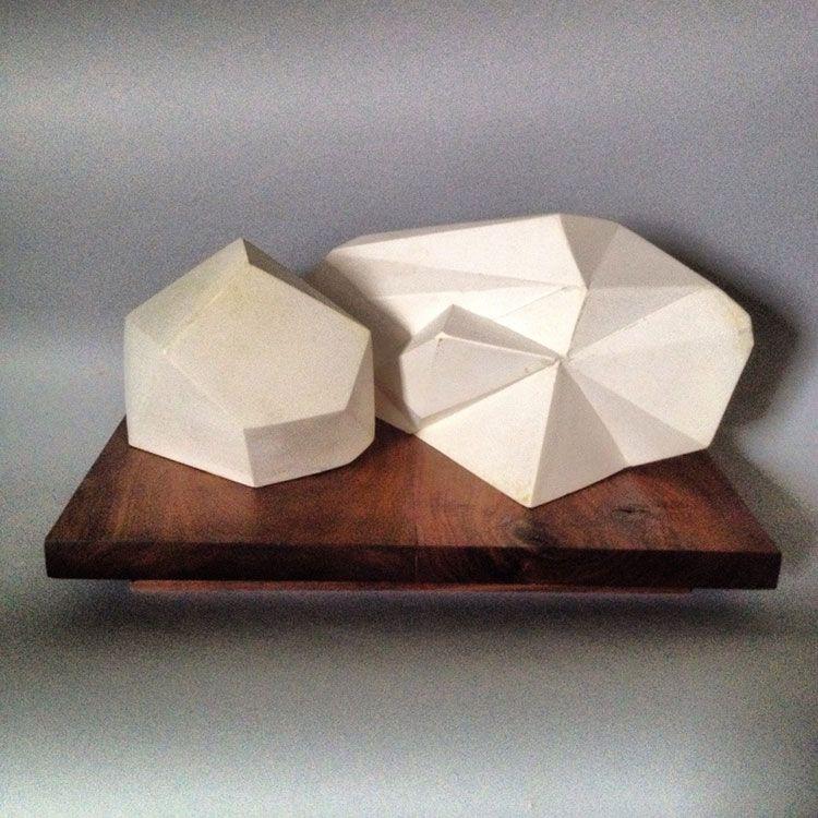 Jud Bergeron, esculturas de papel, yeso y bronce