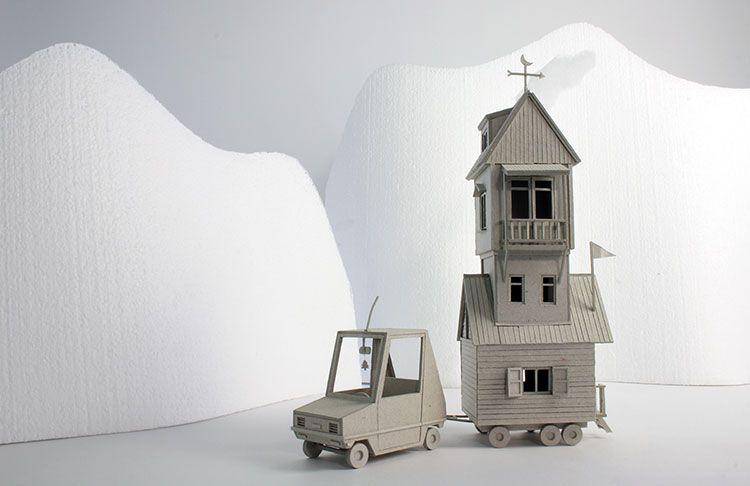 Casitas de papel en 3D de Vera Van Wolferen