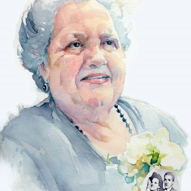 Patricia Villamarin, retratos de acuarela