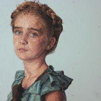 Retratos hiperrealistas bordados por Cayce Zavaglia