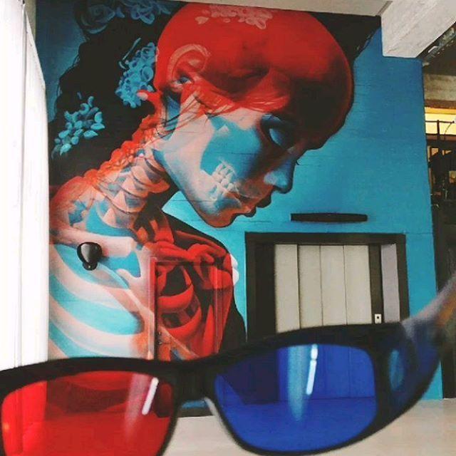 """Los Murales 3D """"Blue & Red"""" De Insane51"""