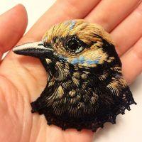 Pájaros bordados por Paulina Bartnik