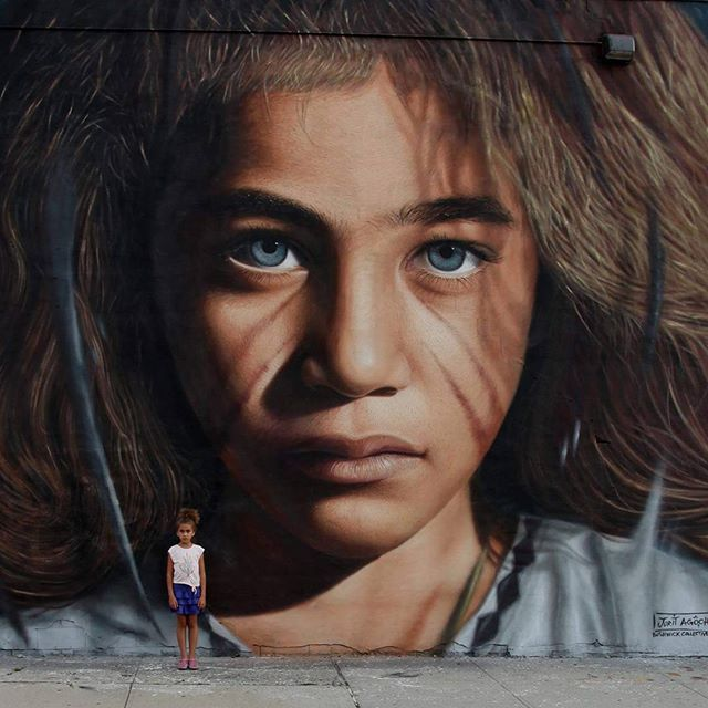 El grafiti hiperrealista y reivindicativo de Jorit Agoch