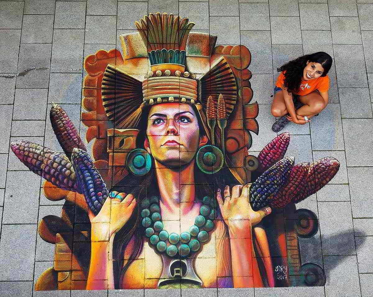 El street art efímero de Adry del rocio