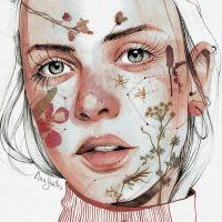 Los impresionantes retratos de acuarela de Ana Santos