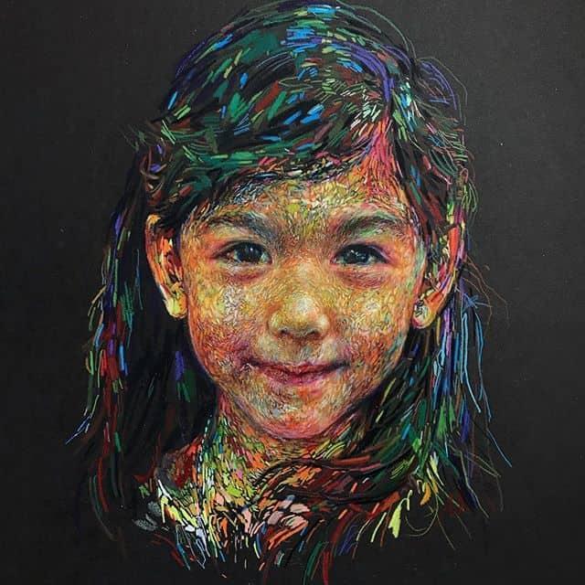 Los coloridos retratos de Linsey Levendall
