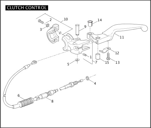 2006 Sportster Models Parts Catalog|CLUTCH CONTROL|Chester