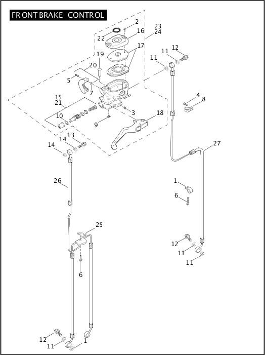 2006 Sportster Models Parts Catalog|FRONT BRAKE CONTROL
