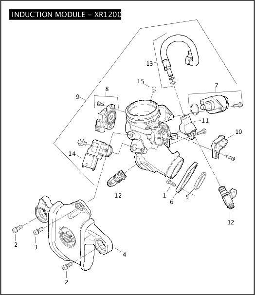 2008 Sportster Models Parts Catalog INDUCTION MODULE
