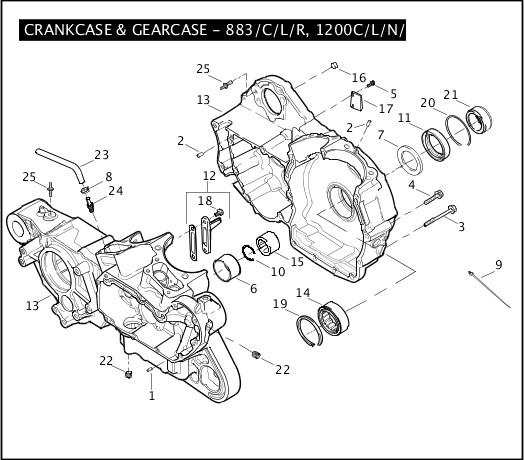 2007 Sportster Models Parts Catalog|CRANKCASE & GEARCASE